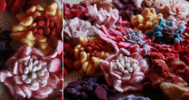 Aunt Peaches: Friday Flowers: Making Sweater Felt in the Washing Machine
