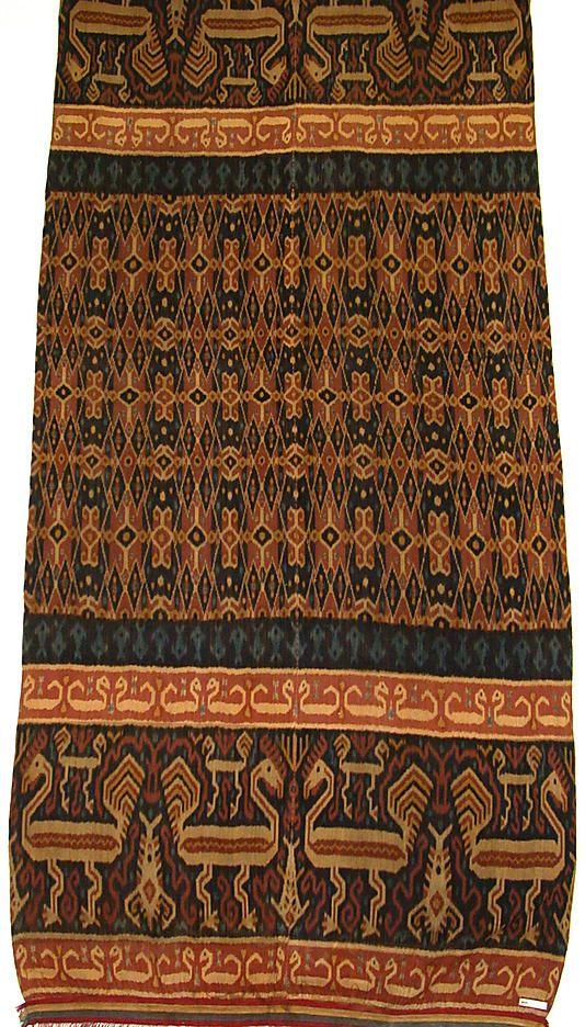 Man's Shoulder or Hip Cloth (Hinggi), Indonesia, 1910, cotton