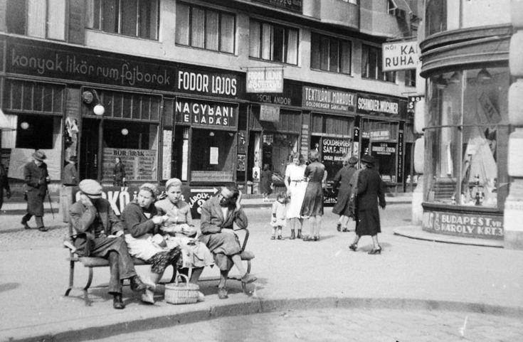 Dob utca at Károly körút, 1936