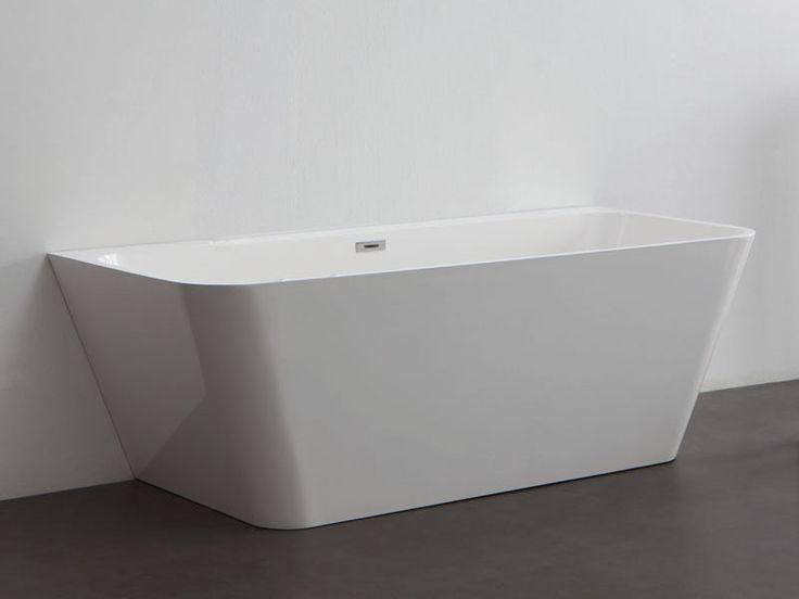 Kzoao Back to Wall Cast Stone Bath 1500mm