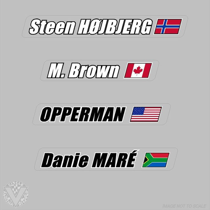 Name stickers on clear with flag 6 pack vélo pinterest flags and bicycling