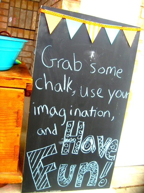 Have a Chalk station! the whole street is your canvas  - block party idea for kids