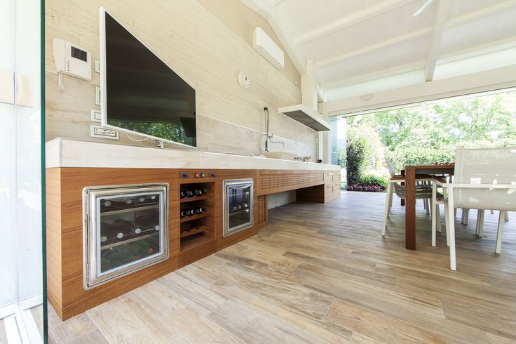 Cucina esterna in teak