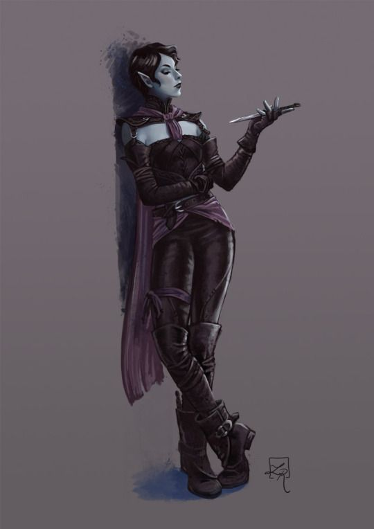 Female Drow rogue. Fantasy                                                                                                                                                     More