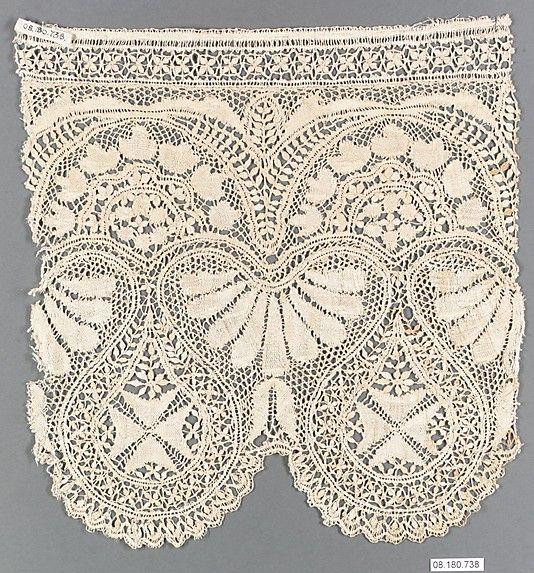 Bobbin lace fragment. 19th century