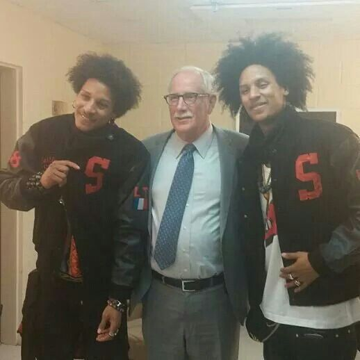 Les Twins, Laurent and Larry at Suitland High School