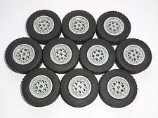 LEGO Technic 10 Räder, Gr. 62.4 x 20 S, Reifen für 8258 8285 8421 42009 42043