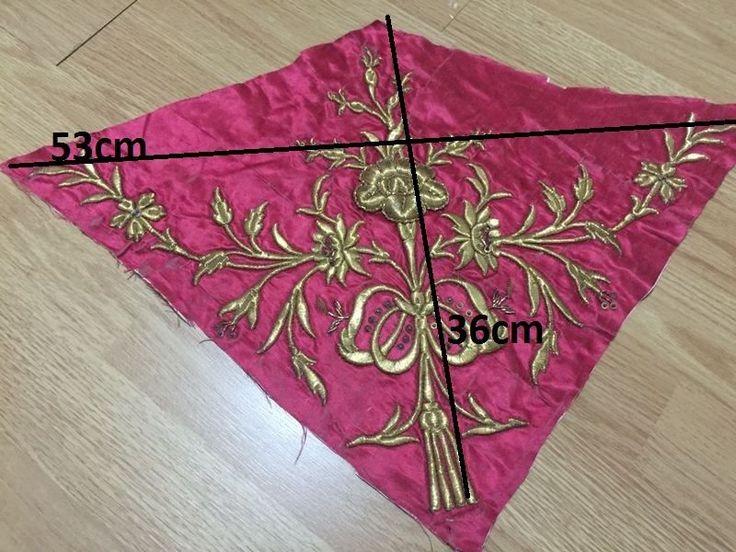 2 ottoman silk gold metallic bindallı parts 8
