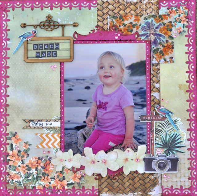 Tropical Beauty ... a layout made using the Paradiso Collection from Kaisercraft. By Kelly-ann Oosterbeek.