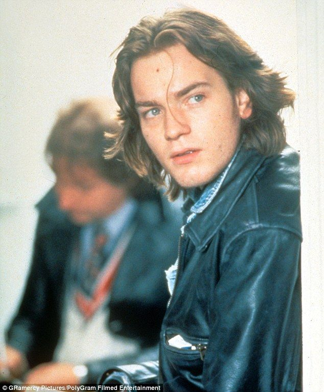 Youthful: McGregor also sported long hair in his breakout role as young journalist Alex La...