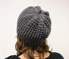 Tuto tricot: bonnet femme au point de bambou