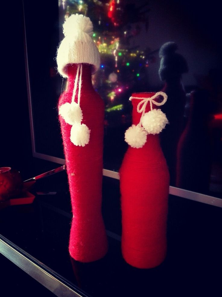 Christmas decorative vases