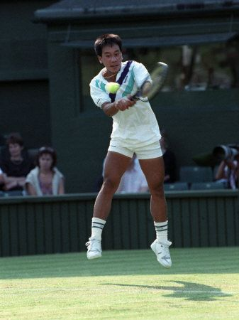 """Michael Chang - """"david"""" in the tennis world.  The boy who slew a giant."""