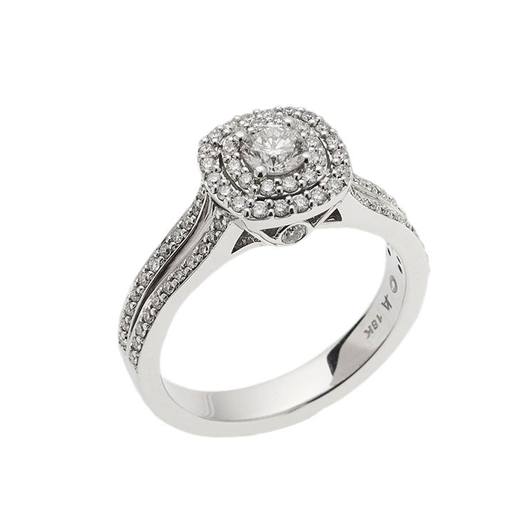 Cashmere Luminaire Ring in 18k white gold from John Atencio.