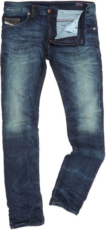 Diesel Men's Thavar 600s skinny mid wash jogg jeans on shopstyle.co.uk