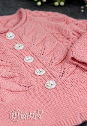 Вязание детской кофты спицами