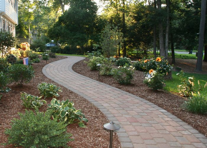 7 best images about walkway on pinterest pathways paver for Paving designs for small garden path