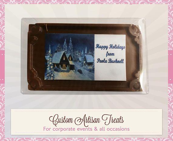 Christhmas Chocolate Card & Edible Image (1 #papergoods @EtsyMktgTool http://etsy.me/2j8Vsr8 #thankyouchocolates #chocolatecards