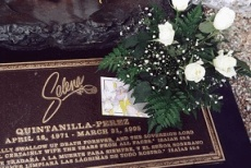 Put flowers on Selena's grave in Corpus Christi, TX