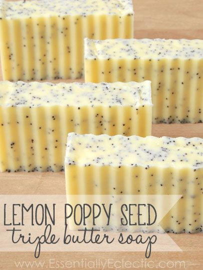 Make your own Lemon Poppy Seed Triple Butter Soaps | Stephenson Personal Care