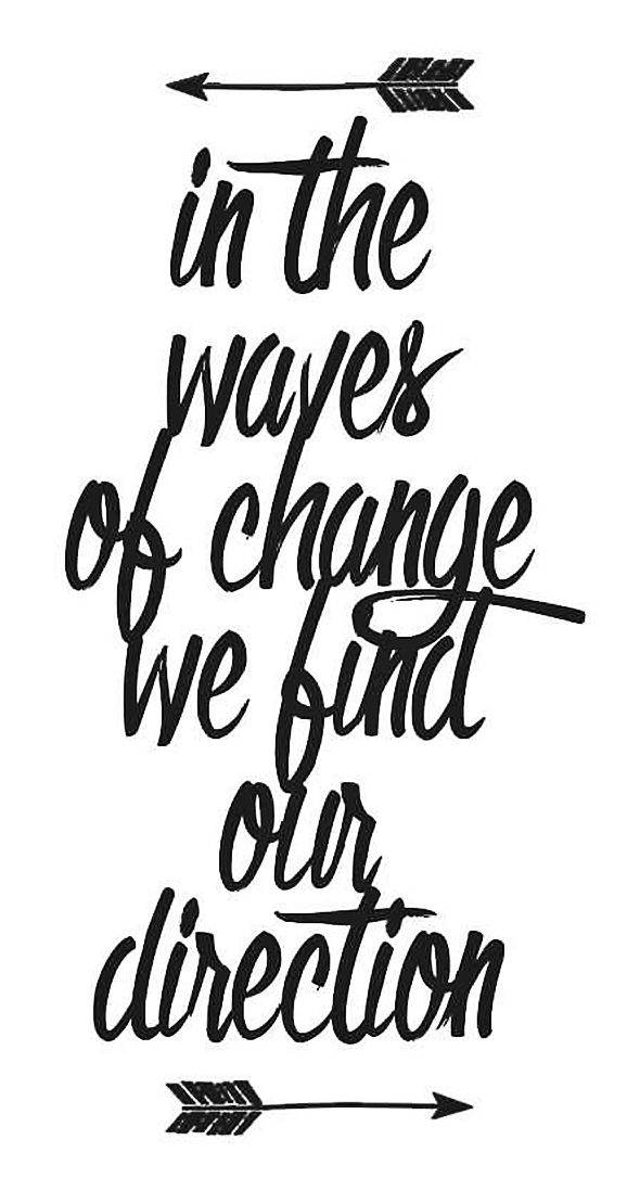 In The Waves Of Change We Find Our Direction | Quote