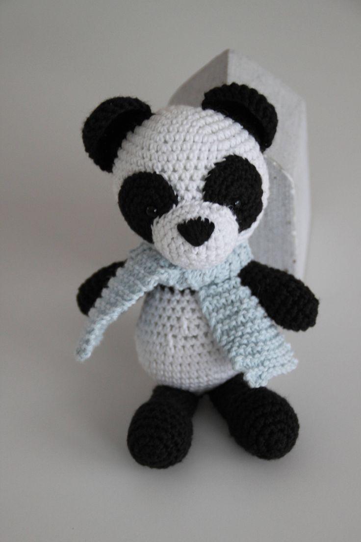 Excited to share the latest addition to my #etsy shop: Bo the Panda http://etsy.me/2D8Nneo #toys #white #babyshower #christmas #black #crochetpanda #aidasofieknits #amigurumipanda #pandatoy