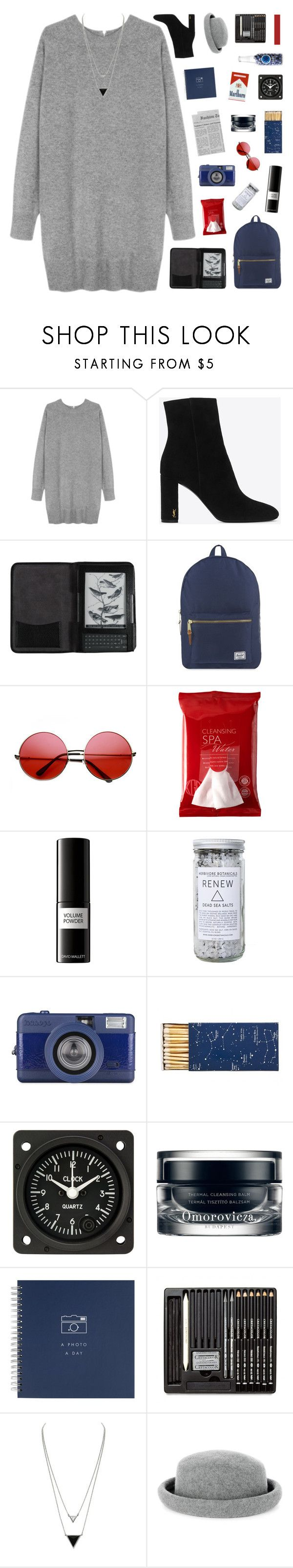 """""""you ain't really wild, you a tourist"""" by enchantedmist ❤ liked on Polyvore featuring Wood Wood, Yves Saint Laurent, Cole Haan, Herschel Supply Co., INDIE HAIR, Koh Gen Do, David Mallett, Herbivore, Jayson Home and Omorovicza"""
