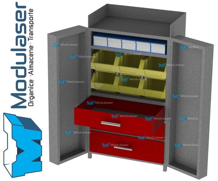 Armario metálico con gaveteros abiertos y cerrados, ideal para organizar y almacenar herramientas, dotación, productos, mercancías e inventarios eficientemente. Fabricamos de acuerdo a las necesidades y características requeridas por nuestros clientes. Variedad en tamaños, diseños y colores.Te brindamos asesoría personalizada, Te esperamos! #Modulaser  ☎4145213 (Bogotá 🇨🇴)📲318 4320023📧servicliente@modulaser.co 🖥️www.modulaser.co 🚛📦Despachos a nivel nacional✈️⛴️ Exportaciones.
