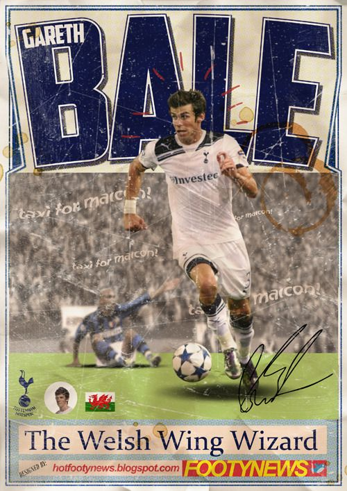 Gareth Bale, one of the most exciting young footballers in the Premier League, against Maicon of Inter Milan. #TottenhamHotspur