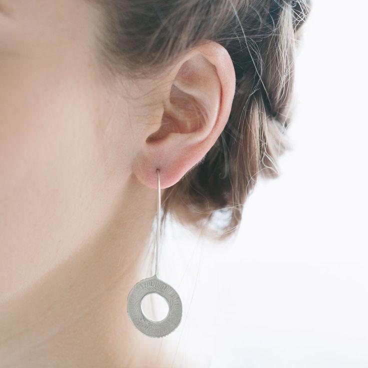 Spirograph Drop earrings, sterling silver $190