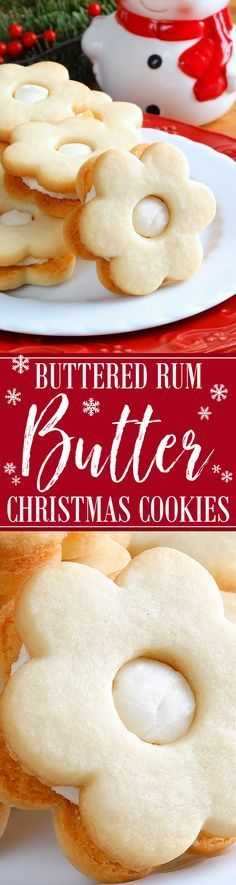 Buttered Rum Butter Cookies ~ Melt-in-your-mouth and simply divine! Buttery, flavorful and fragrant, these rum butter cookies are the embodiment of a truly melt-in-your-mouth, delicate and light yet crisp butter cookie. Sandwiched with a dreamy, soft and creamy rum buttercream filling for the ultimate taste sensation. Everyone will LOVE them. Irresistible! | Christmas cookie recipe
