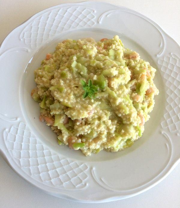 El blog healthy: Receta de risotto de mijo con puerros y gambas