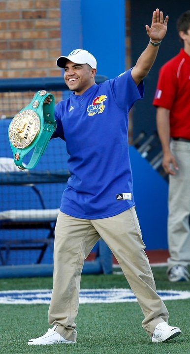 Victor Ortiz...a Jayhawk and a great boxer