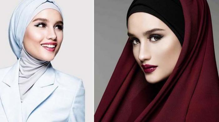 """Cinta Laura Cantik Berhijab di Iklan Kosmetik Arab Saudi :  Artis belia Cinta Laura Kiehl kini mulai kembali ke dunia hiburan Indonesia. Nah baru-baru ini penyanyi berwajah """"Indo"""" ini menjadi bintang iklan produk kosmetik nih"""