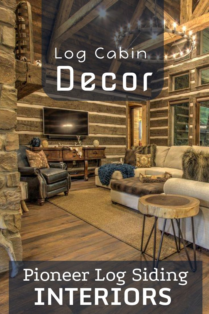 Our Pioneer Interior Log Siding Was Used Throughout This Beautiful
