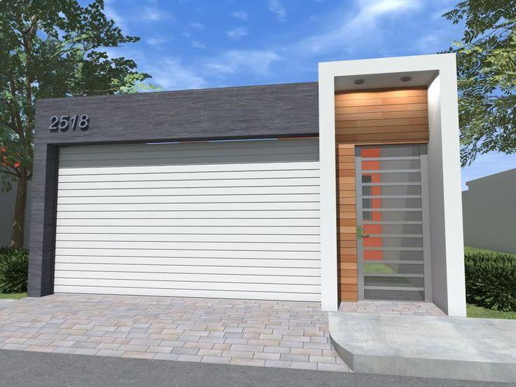 Dise o arq cochera cochera fachadas y fachadas de for Fachadas de casas modernas pequenas de infonavit