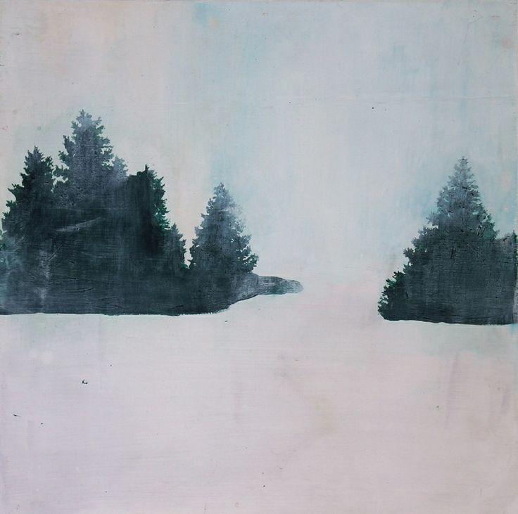 "Mairi Timoney; Acrylic, 2013, ""Still Place Pine"""