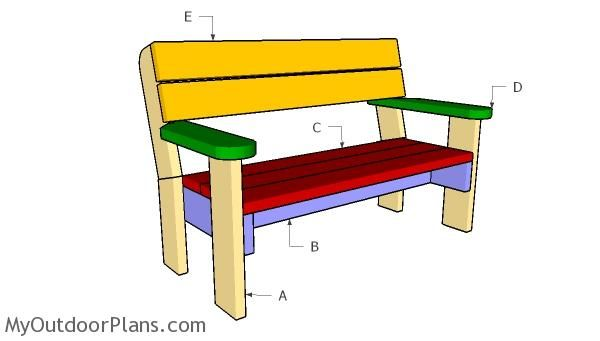 Admirable Building A 2X6 Bench With Backrest In 2019 Garden Bench Pabps2019 Chair Design Images Pabps2019Com