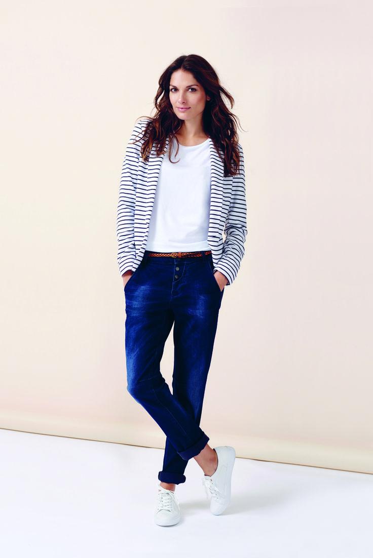 soyaconcept - blazer - jacket - cardigan - blouse - t-shirt - jeans - pants - denim - belt - stripe