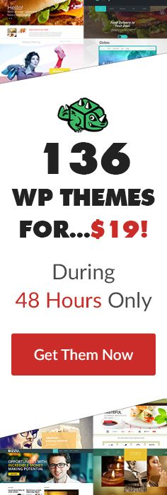 Limited Time Offer! Get A Monthly Plan With 136 #WordPress  #Themes for Just $19! [T-Minus 48 Hours]