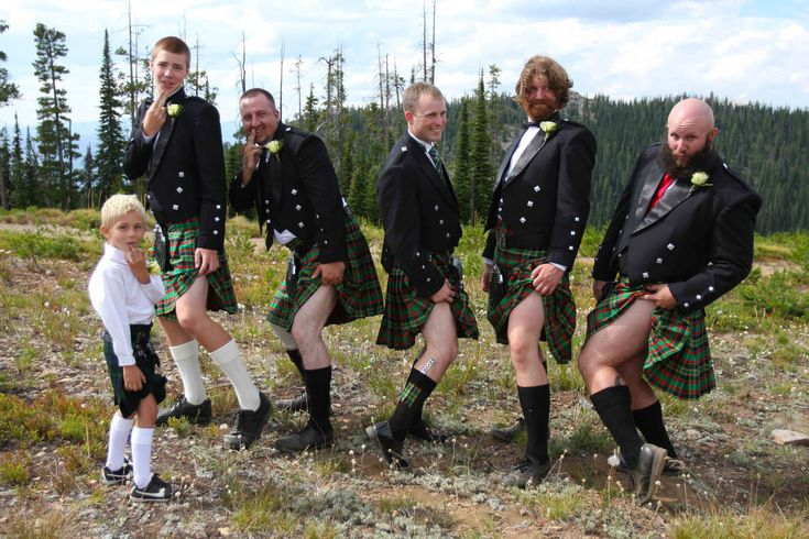 Gotta love a groom and his men in kilts... Loved that we had a kilted wedding