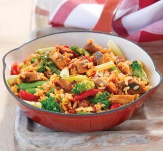 Asian pork sausage stir-fry | Australian Healthy Food Guide