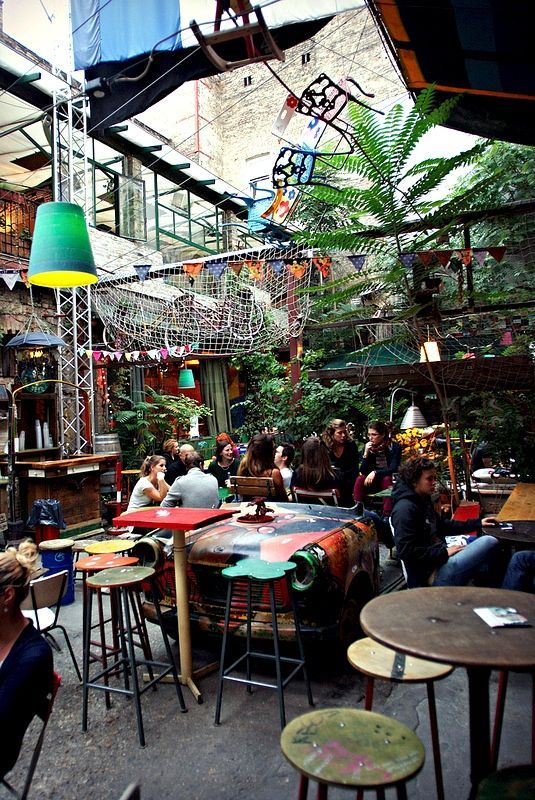| ♕ |  Atrium at the Ruin Pub - Budapest  | by © elinor04