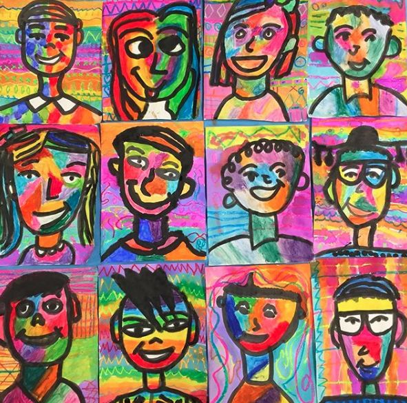 In the Art Room: Fourth Grade Fauves! (Cassie Stephens)