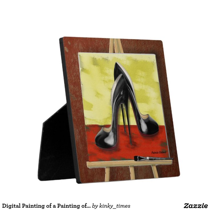 Digital Painting of a Painting of Black Stiletto's Display Plaque