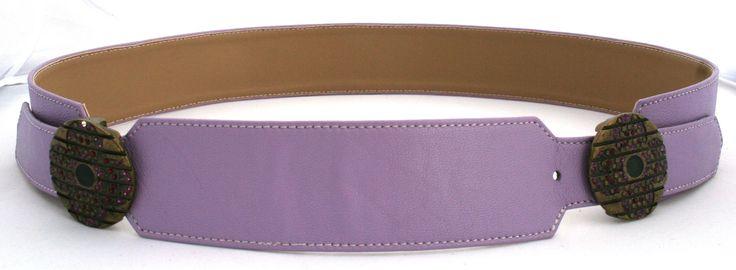 Belt colored Napa leather with decorative buckles - Cintura in nappa colorata con fibbie gioiello - CUCCOLI ACCESSORI MODA