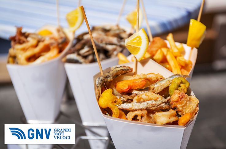 Sea food in cones on the street of Italy. Discover #GNV routes from/to #Italy here: http://www.gnv.it/en