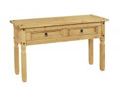 Corona Console Table 2 Drawer With Light Waxed Pine can easily create the first impression of onlookers on first time visit. grab this furniture today at Solidwood Furniture Shop Kent, UK. More details: http://solidwoodfurniture.co/product-details-corona-mexican-pine--4773-corona-console-table-drawer-with-light-waxed-pine.html