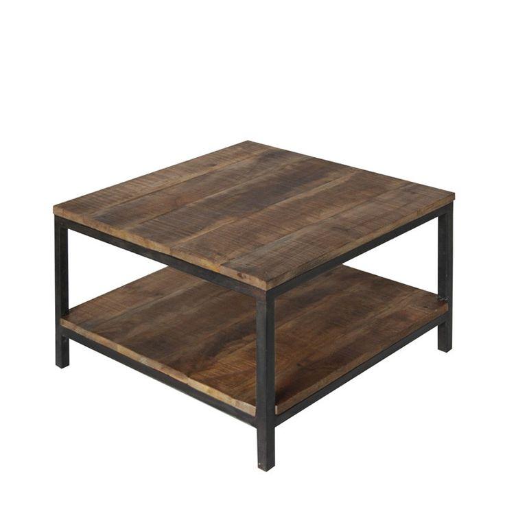 Salontafel Industrieel 60 is een rustieke salontafel uit de collectie van Label51 met een industrieel frame en mangohouten tafelblad. Koop 'm nu bij Furnies.nl!