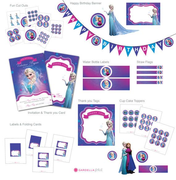 Disney Frozen Birthday Party by GardellaGlobal, $5.00